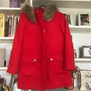 Red J. Crew coat - 00P